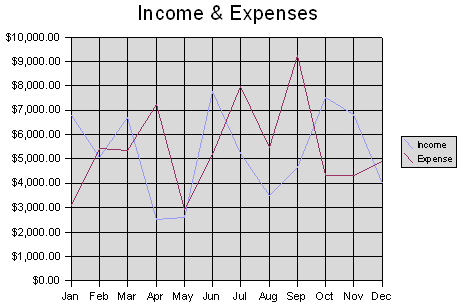 Sample income & expenses chart