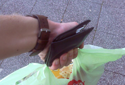 Wallet & shopping bag